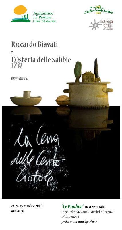 La cena delle cento ciotole® all'Osteria delle Sabbie, Ferrara