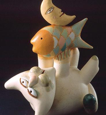 Cod. 022 Gatto-pesce-luna